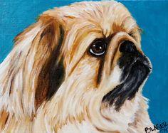 Rebecca Blaser pekingese painting