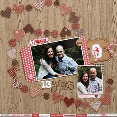 Lovin' the garland of hearts!  Designed by Melanie Call - #jillibeansoup