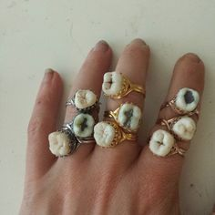 Sweet Tooth Ring by ExtolloJewelry on Etsy. Kinda gross kinda cool