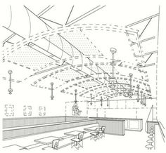 The mark consists of the representation of a restaurant dining room shown in dashed or broken lines forms no part of the mark and merely serves to show the position of those items on the mark. The mark consists of THE APPEARANCE AND DESIGN OF THE INTERIOR OF A RESTAURANT EVOKING A NEO-INDUSTRIAL FEEL THROUGH THE USE OF UNPAINTED GALVANIZED OR STAINLESS STEEL METAL FINISHES ON TABLE AND BAR TOPS, BASEBOARDS, WAINSCOTS, AND TRASH SURROUNDS; LIGHT ? COLORED NATURAL WOOD FINISHES AS ACCENTS ON…