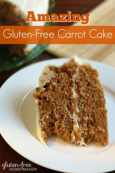 My family absolutely loves this gluten-free carrot cake. It is moist and flavorful, and it is the most requested birthday cake in my family.