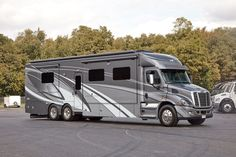 Designed for your life with Renegade RV's lineup of Renegade motorhomes, Renegade toterhomes and Renegade stacker trailers. Renegade also builds specialty vehicles. Car Wheels, House On Wheels, Super C Motorhomes, Super C Rv, Rv Storage, Storage Ideas, Cool Rvs, Gooseneck Trailer, Expedition Truck