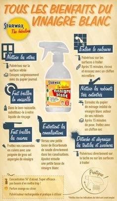 Infographie : les bienfaits du vinaigre blanc