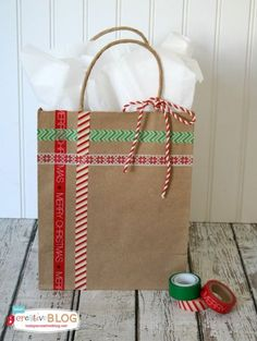 I would use a white bag. Could be adapted to other occasions by changing colors.