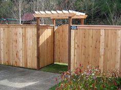 fence and pergola combo