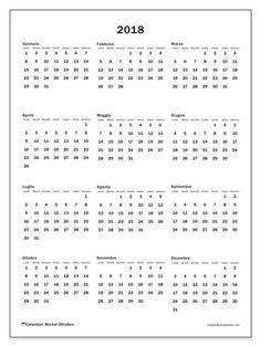 Gratis! Calendari per  2018 da stampare - Italia