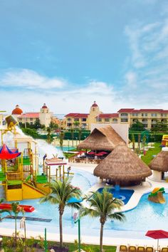 The family-friendly hotel has a waterpark, a miniature golf course and a playground. #Jetsetter