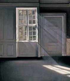 Vilhelm Hammershøi,  'Sunbeams'(Dust Motes Dancing in the Sunbeams),1900