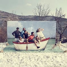 Photo booth idea for a beach wedding