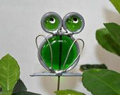 Stained Glass Purple Frog Plant Stake, Royal Purple Frog Garden Stake. $7.00, via Etsy.