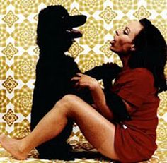 Jacqueline Susann with her dog