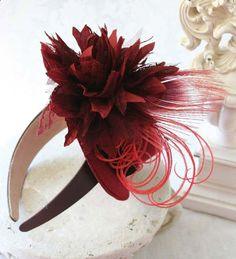 Victorian Tea Party Hats | LADY AUTUMN Mini Tea Party Hat Fascinator with Fabric Flower ...