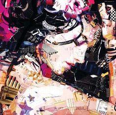 Recycled magazine collage Derek Gores