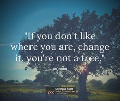 If you dont like where you are change it...