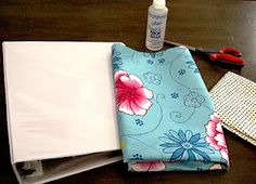 The Little House: Tutorial: Fabric-Covered Binder