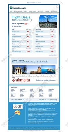 Company:    Expedia.co.uk    Subject:    This week's top flight deals            INBOXVISION is a global database and email gallery of 1.5 million B2C and B2B promotional emails and newsletter templates, providing email design ideas and email marketing intelligence www.inboxvision.com/blog  #EmailMarketing #DigitalMarketing #EmailDesign #EmailTemplate #InboxVision  #SocialMedia #EmailNewsletters