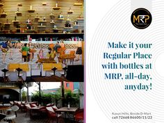 Whether you are celebrating a birthday, get together or a regular party night with your friends then come to MRP. Located near hi-tech city, you can avail drink bottles at MRP price. That too any day of the week from Mon-Sun. So gather your folks and make a booking at MRP today! #MRP #DiveBar #Hyderabad #Drinks #Party #DrinkAtMRP