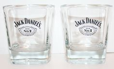 Jack Daniels Whiskey Rocks Glasses Set of Two Liqour Bar Novelty Gift Mancave
