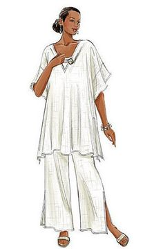 Plus Size TUNIC & PANTS Sewing Pattern Women's by patterns4you