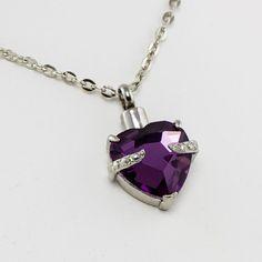 Byzantium Heart Cremation Urn Necklace