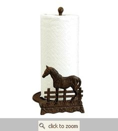 Iron Horse Paper Towel Holder. $24.99 on sale @ lonestarwesternde.... This site has EVERYTHING for the home, in western style.