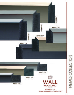 Looking for a stylish solution conducive to almost any space? Consider Wall Moulding's new Metals Collection. These contemporary, metallic frames are perfect for any project that might need just a little edge to it. Made of polystyrene, the Metals Collection is exceptionally durable, holding up better to bumps and scratches than wood frames. They are also able to tolerate extreme temperature changes and wet, humid conditions. Choose from Champagne/Copper, Gunmetal and Black. Available in 3…