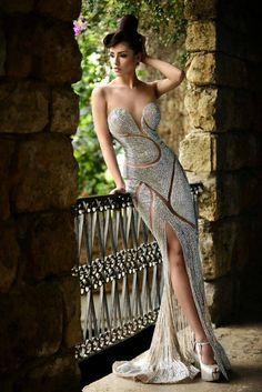 stunning detailed wedding dress by Rami Salamoun
