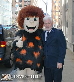 InventHelp & Caveman Mascot Help Feed those in Need this Thanksgiving! #SalvationArmy #FoodDrive #Thanksgiving