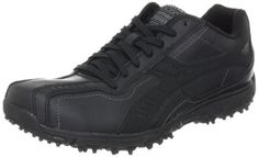 Skechers Sport Mens Split Quater Brace LaceupBlack10 M US *** Want additional info? Click on the image.