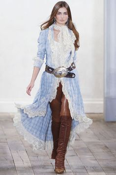 #fashion #trend #style #inspiration #woman #western #clothing #denim #cowboy #cowgirl #ranch #Ralph Lauren 2011 spring