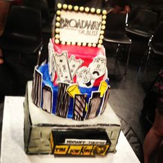 """PBS cake """"broadway or bust"""""""