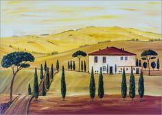 Christine Huwer - Südliche Toskana Das Original ist ein Acrylgemälde in den Maßen 70x50 cm.