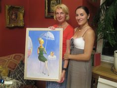 Portet with model Imandra and Painter Asta Rudminaite Private collection