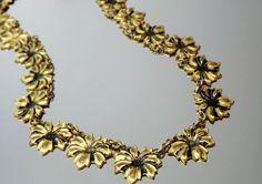 Art Deco Necklace Flower Delicate  Vintage Jewelry 1910 1920