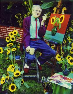 David Hockney Sunflower