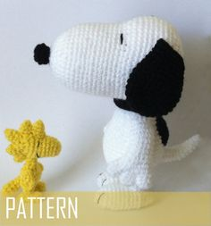 PDF CROCHET PATTERN Snoopy and Woodstock Inspired Amigurumi