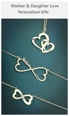 Check Unique Mothers Gifts Ideas here! These Love Heart Pendant Necklaces are the Best.PERSONALIZED with you and mothers name,show off your family love.Order Now, up to $45.99