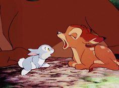 gif gifs disney animated bambi most notes Classic Disney thumper