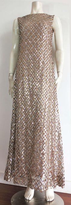 Vintage MALCOLM STARR Metallic dress image 2