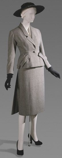 Woman's Suit: Jacket and Skirt    Made in Paris, France, Europe  Spring 1949    Designed by Christian Dior