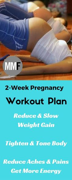 Tone Up with this 2 Week At Home Pregnancy Workout Plan. #pregnancyatwork,