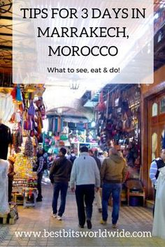 Travel tips for 3 days in Marrakech, Morocco's vibrant city. Here's all the Marrakech shopping, eating and sleeping in one place to make your journey carefree! Marrakech   Morocco   Medina   shopping   The Souk #Morocco #Marrakech #Media #Souk