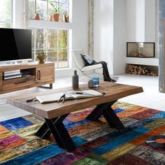 Sofabord i eg #indretning #interiør #interiørdesign #interiørbutikkendk #rustikkemøbler #boligindretning #sofabord Decor, Corner Desk, Standing Desk, Desk, Furniture, Contemporary Rug, Contemporary, Home Decor