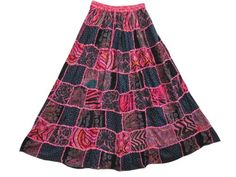 Mogulinterior Summer Hippie Skirts Pink Gypsy Patchwork Skirt for Womens mogulinterior,http://www.amazon.com/dp/B00E5WQ422/ref=cm_sw_r_pi_dp_5nZ8rb1Y0B0RFG20