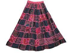 Mogulinterior Summer Hippie Skirts Pink Gypsy Patchwork Skirt for Womens mogulinterior,http://www.amazon.com/dp/B00E5WQ422/ref=cm_sw_r_pi_dp_5nZ8rb1Y0B0RFG20