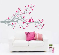 I'm kind of obsesses with wall decals. This would be soo cute for a little girl's room.