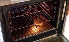 Is your oven covered in baked on grease? With this trick it'll be clean again in no time!