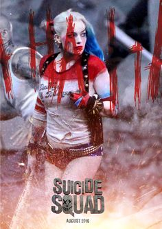 Suicide Squad Harley quinn poster by itsnotoover