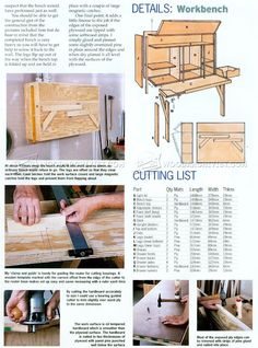 Fold Down Workbench Plans - Workshop Solutions