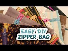 ▶ DIY 5 Minute Zipper Bag {EASY} - video